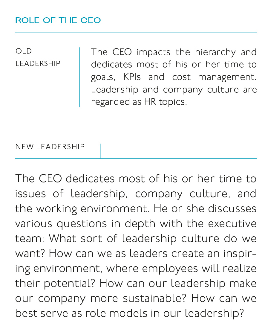 The new role of the CEO